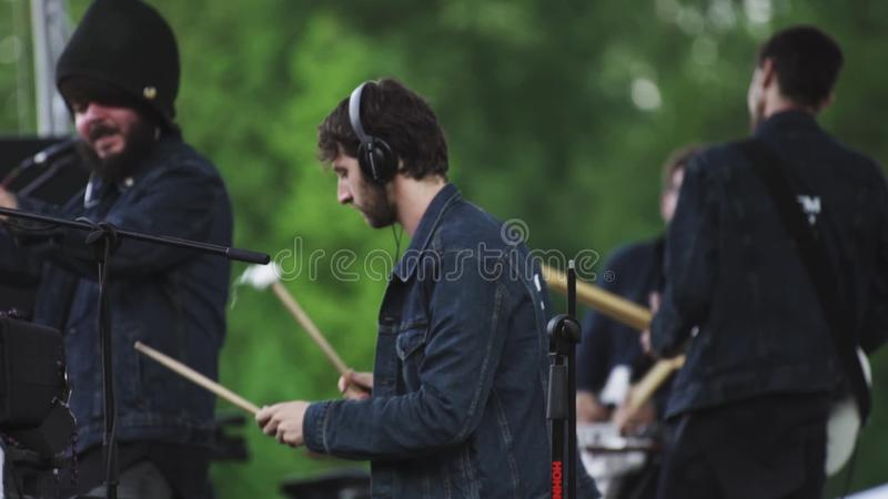 Garden City Movement Band Members Playing Music On Scene Of Open Air ...