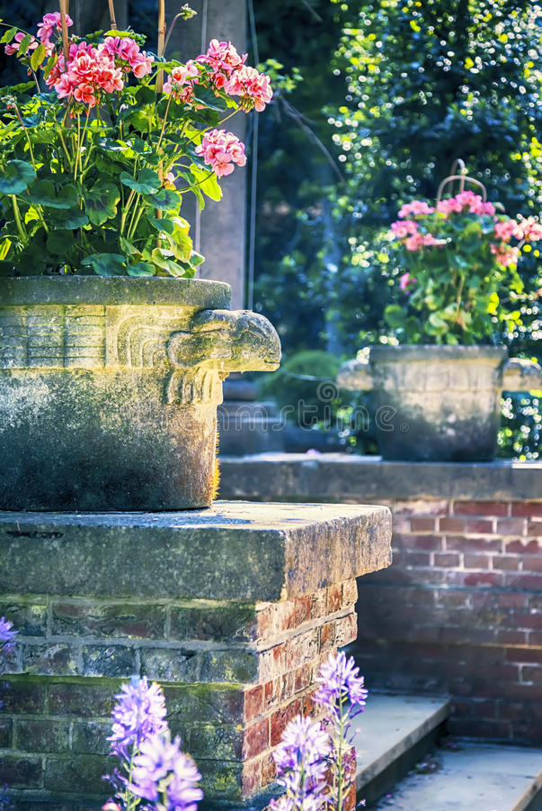 Garden classic vases royalty free stock image