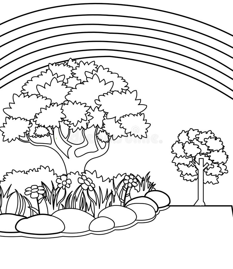 Garden coloring page stock illustration. Illustration of juvenile ...