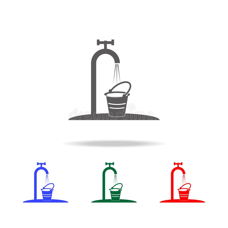 Garden crane with water icon. Elements of garden in multi colored icons. Premium quality graphic design icon. Simple icon for royalty free illustration