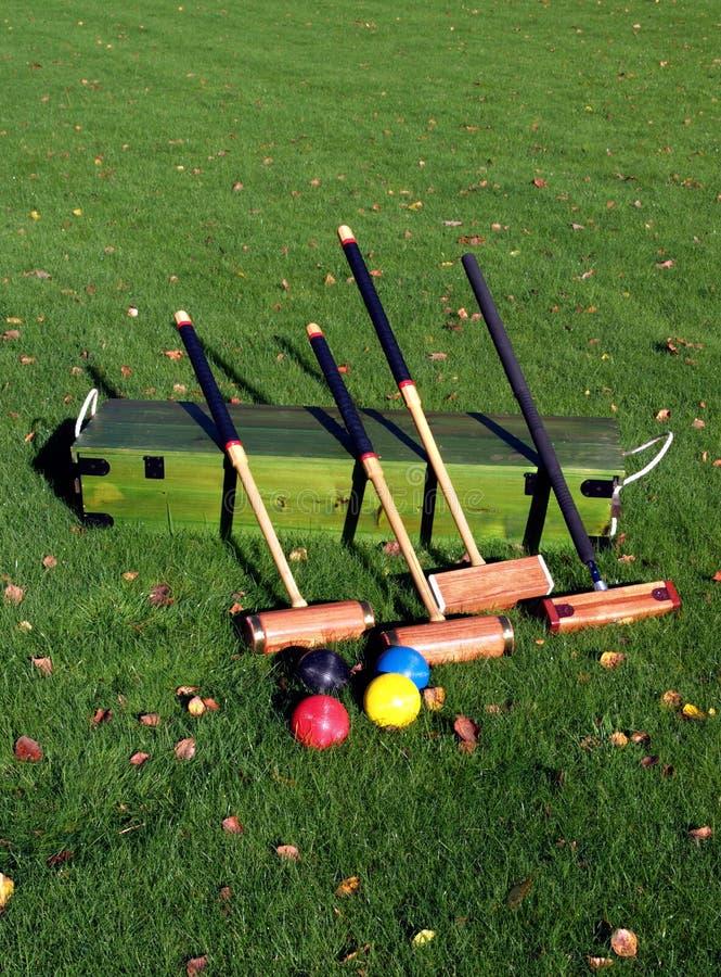 Garden Croquet stock image