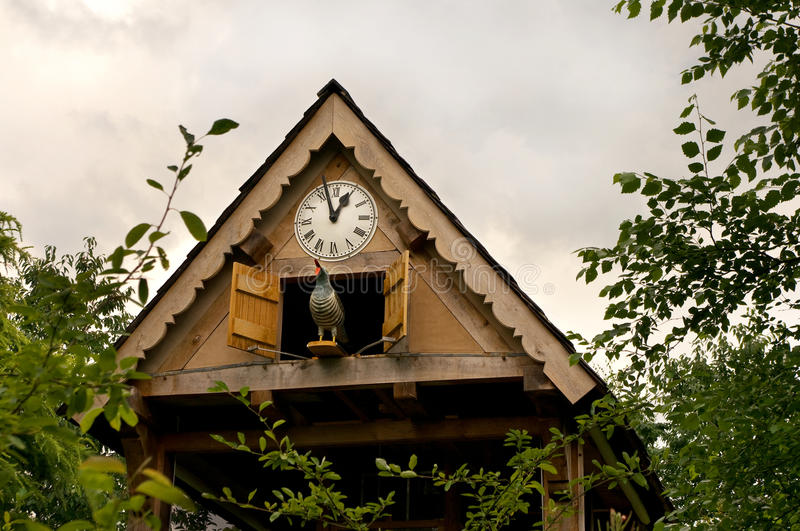 Garden cuckoo clock royalty free stock photography