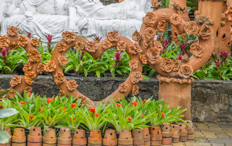 Garden decor styles. Of Nong Nooch Gardens in Pattaya,Thailand stock photo