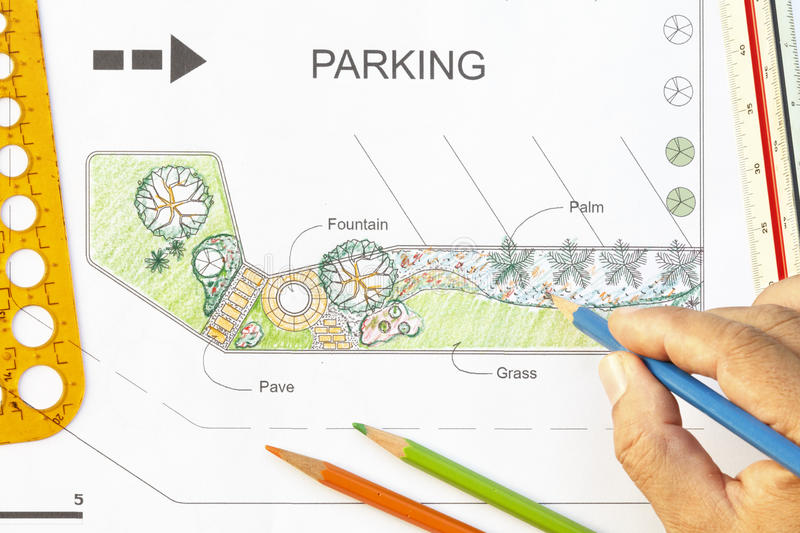 Garden design for parking lot stock image image of blueprint download garden design for parking lot stock image image of blueprint designer 46303977 malvernweather Gallery