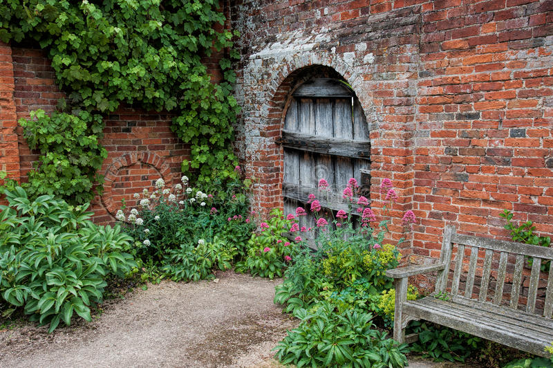 Download Garden Doorway stock image. Image of wooden leaves wood - 32602349 & Garden Doorway stock image. Image of wooden leaves wood - 32602349
