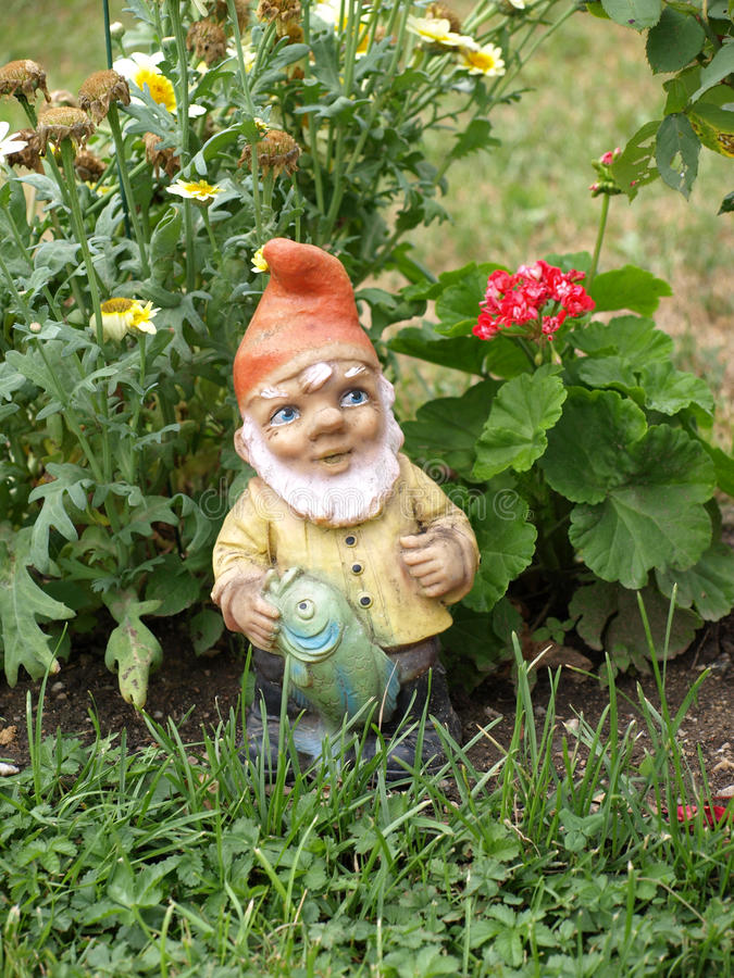 Garden dwarf royalty free stock photography
