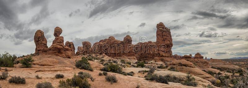 Garden of Eden in Arches National Monument, Utah. USA stock photos
