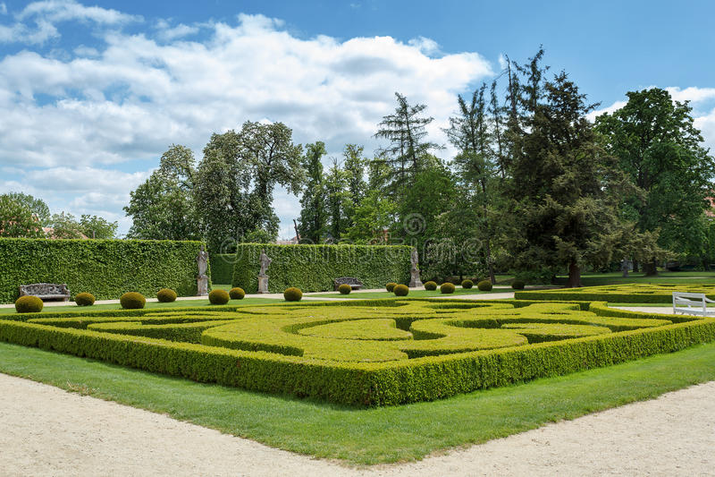 Garden in famous Baroque chateau Jaromerice nad Rokytnou