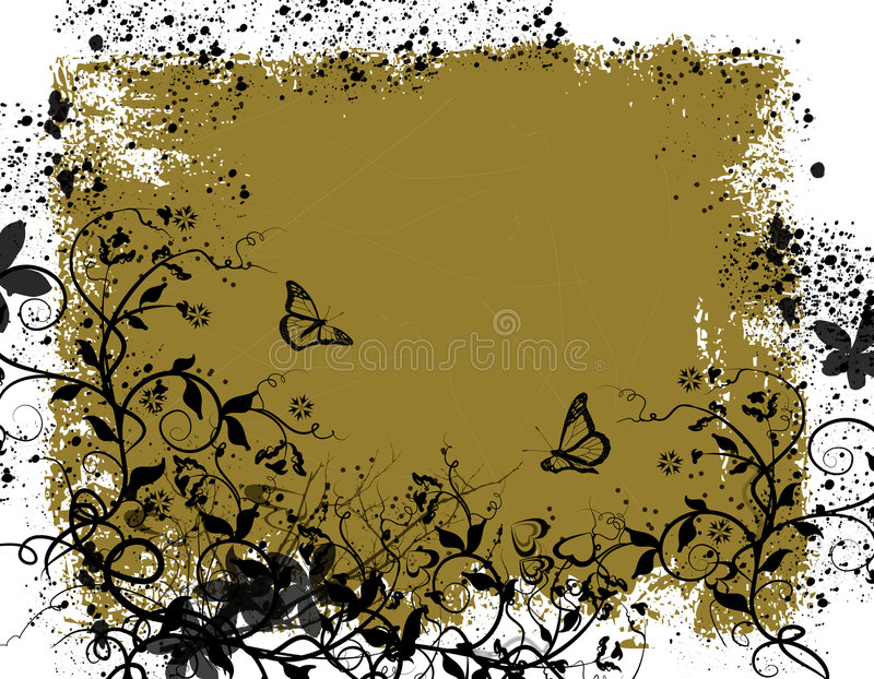 Garden fantasy. Abstract floral background royalty free illustration