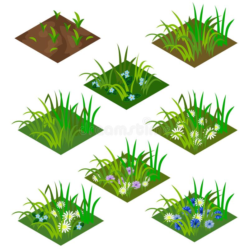 Garden or farm isometric tile set royalty free illustration