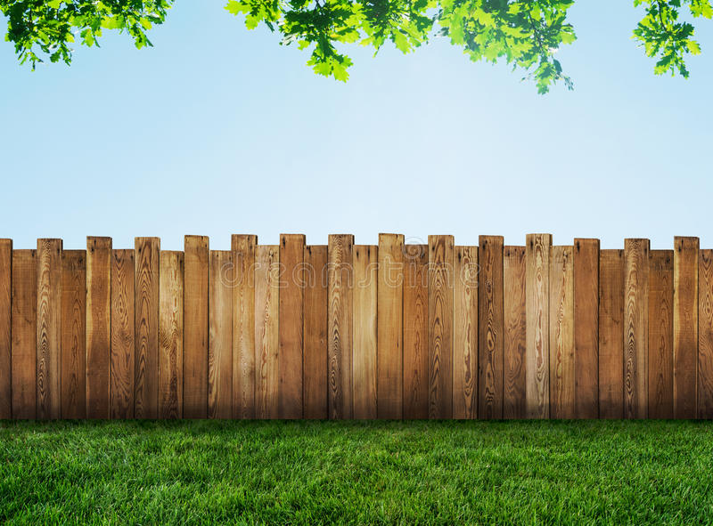 Garden fence stock photos