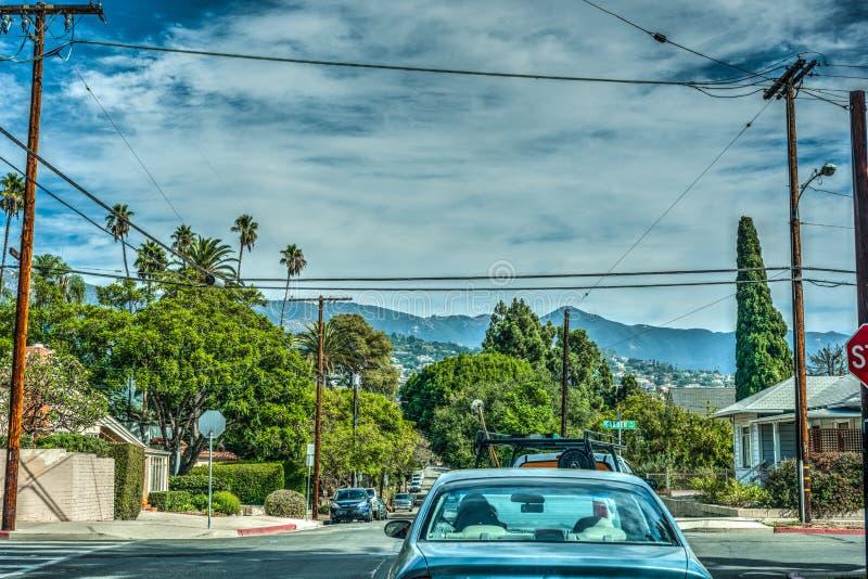 Garden and Figueroa crossroad in Santa Barbara. California royalty free stock photography