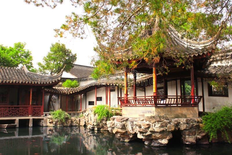 Garden of Fisherman in Suzhou, China stock photos