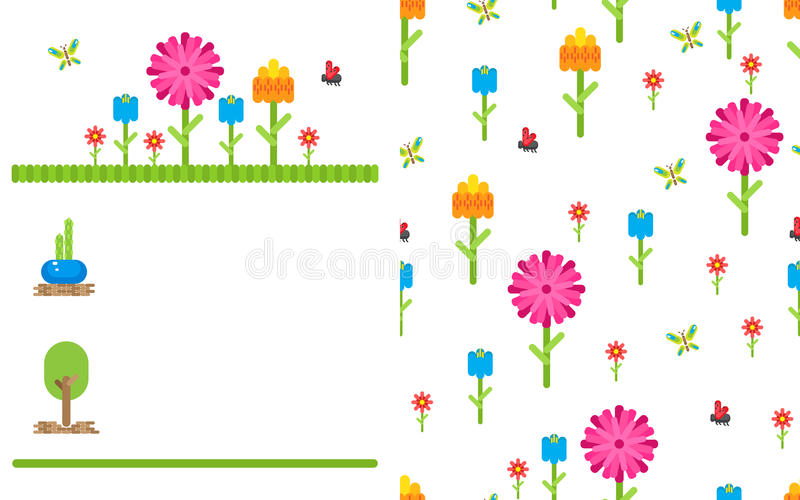 garden flower party vector card template stock vector illustration rh dreamstime com party vector png parity vector