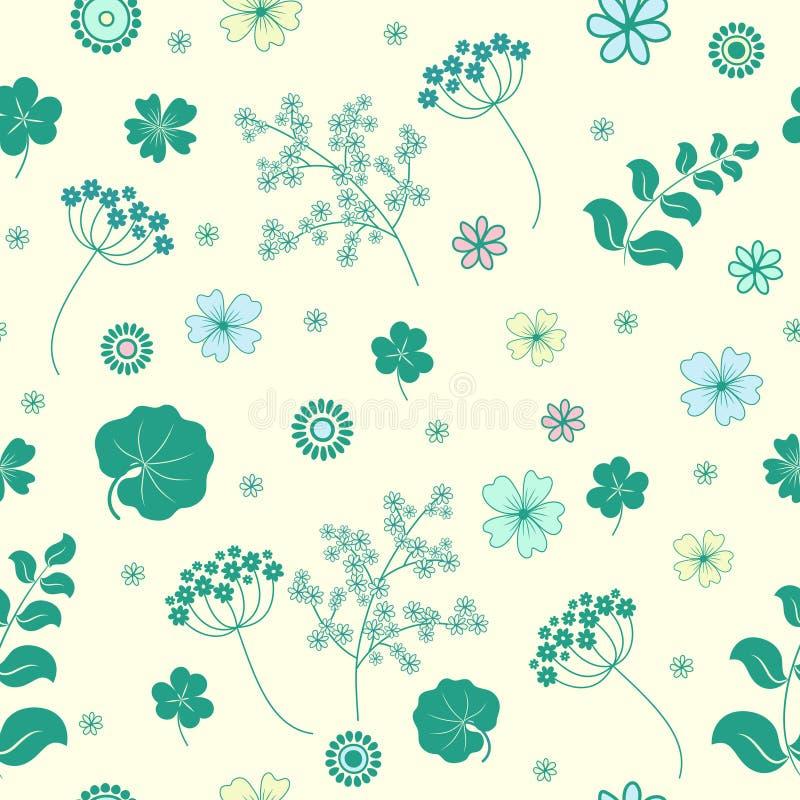 Garden flowers seamless background. vector illustration