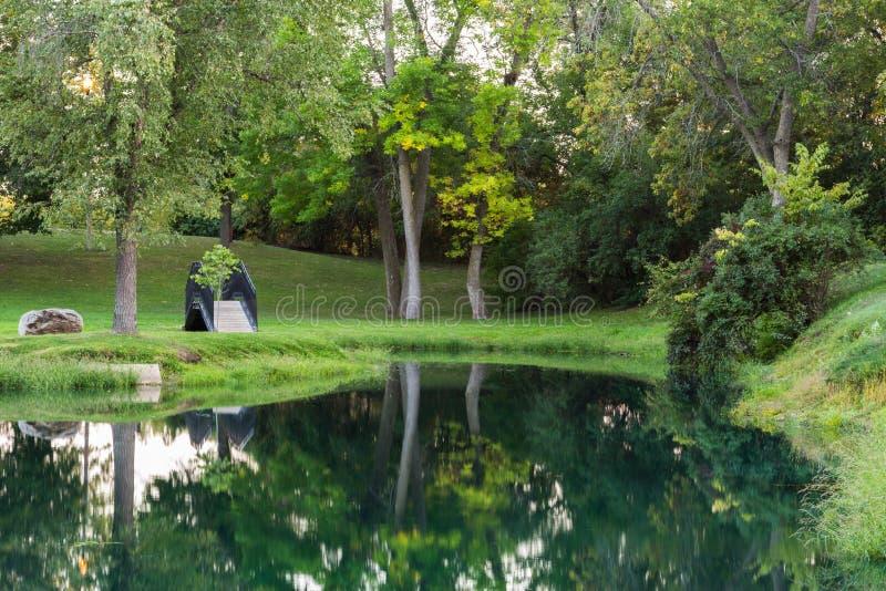 Download Garden footbridge stock photo. Image of hike, green, daylight - 26813308