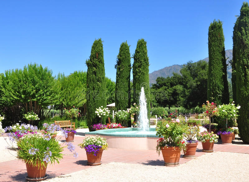 Download Garden fountain stock image. Image of outdoor, sonoma - 15281073