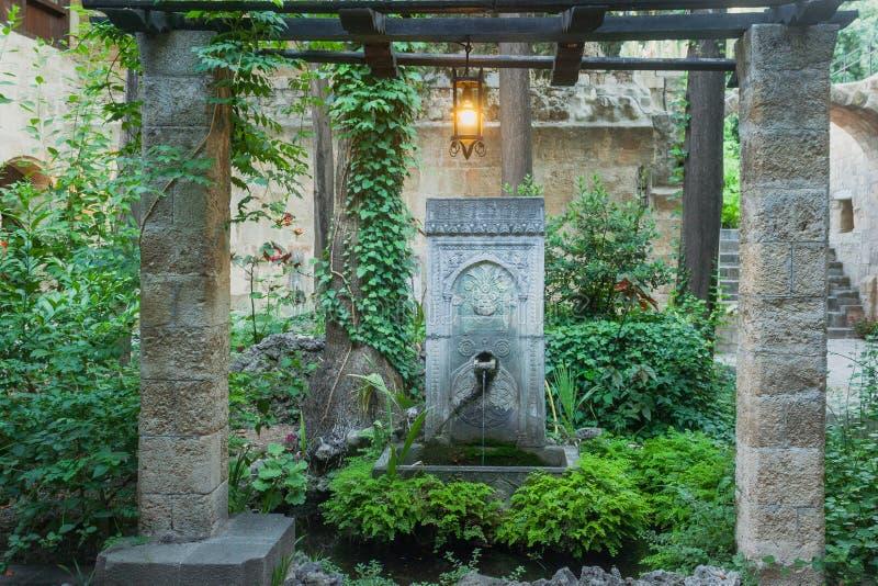 Garden fountain royalty free stock photography