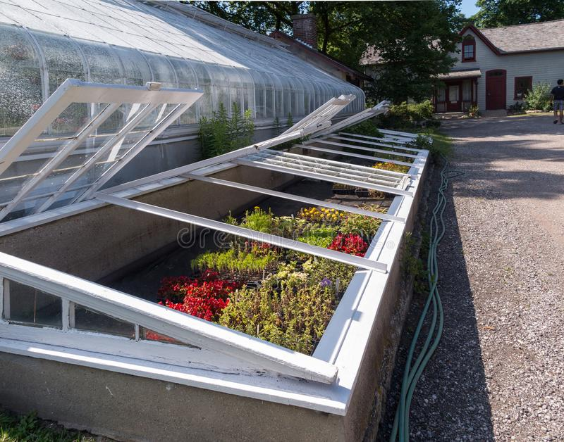 Garden frame and greenhouse stock images
