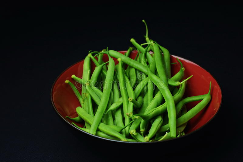 Garden Fresh Green Beans stock image