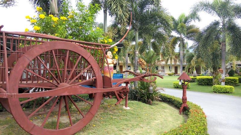 Garden in front of hotel .Thailand stock photos