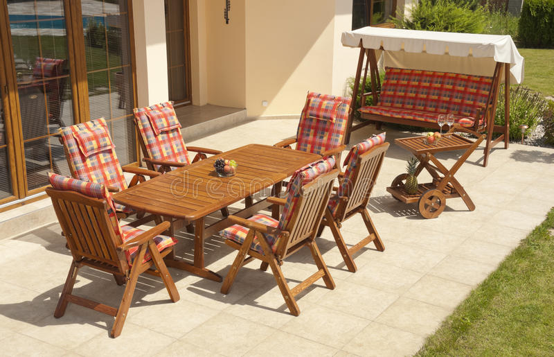 Garden furniture stock images