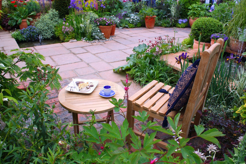 Download Garden furniture stock image. Image of iris, leaves, colors - 6060555