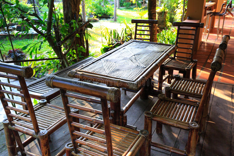 furniture made of bamboo. Download Garden Furniture Made From Bamboo Stock Photo - Image Of Brown, Rustic: 59660268