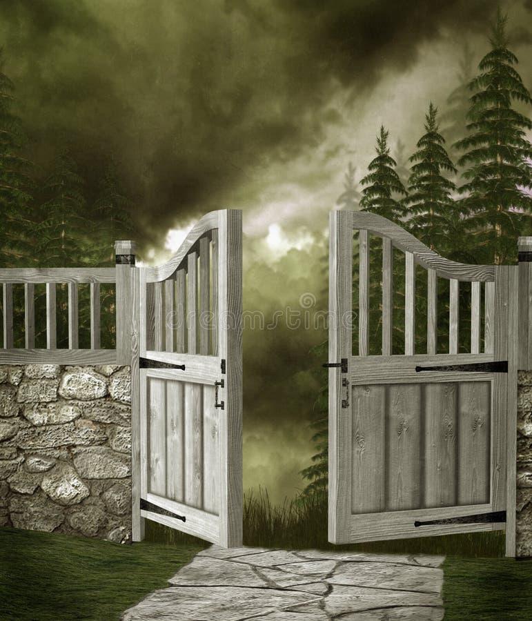 Garden gate 1 royalty free illustration