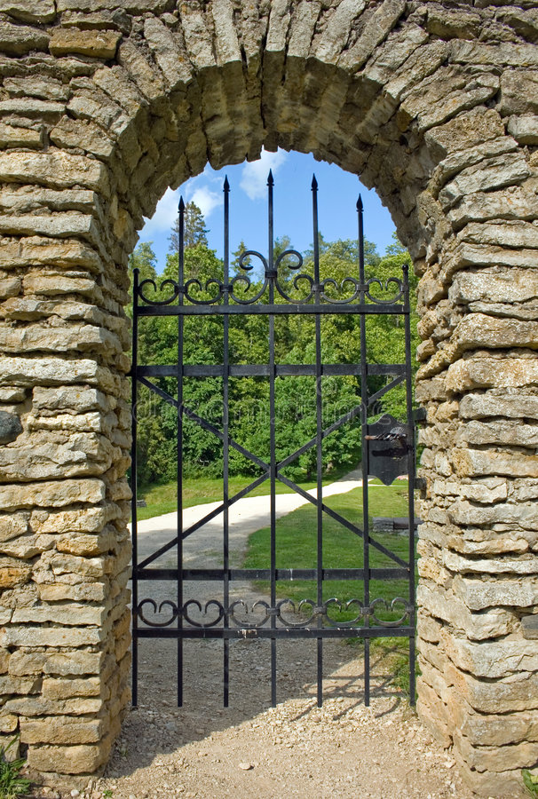 Garden gate stock photos