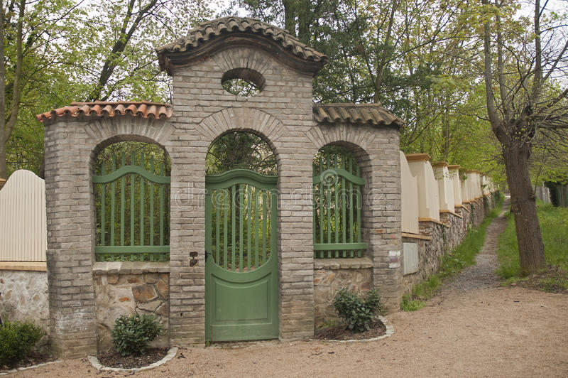 Garden gate. It is image of garden gate royalty free stock images
