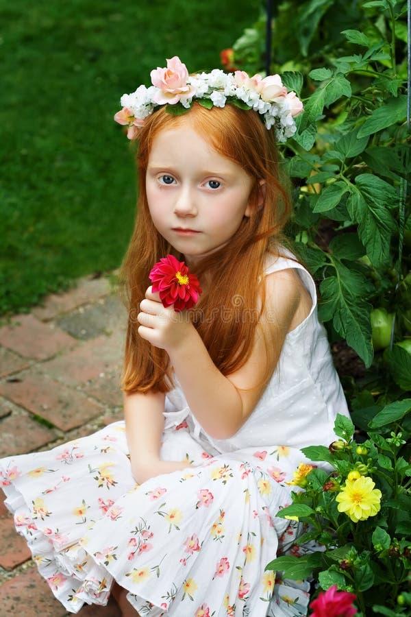 Garden Girl - 3 stock photo