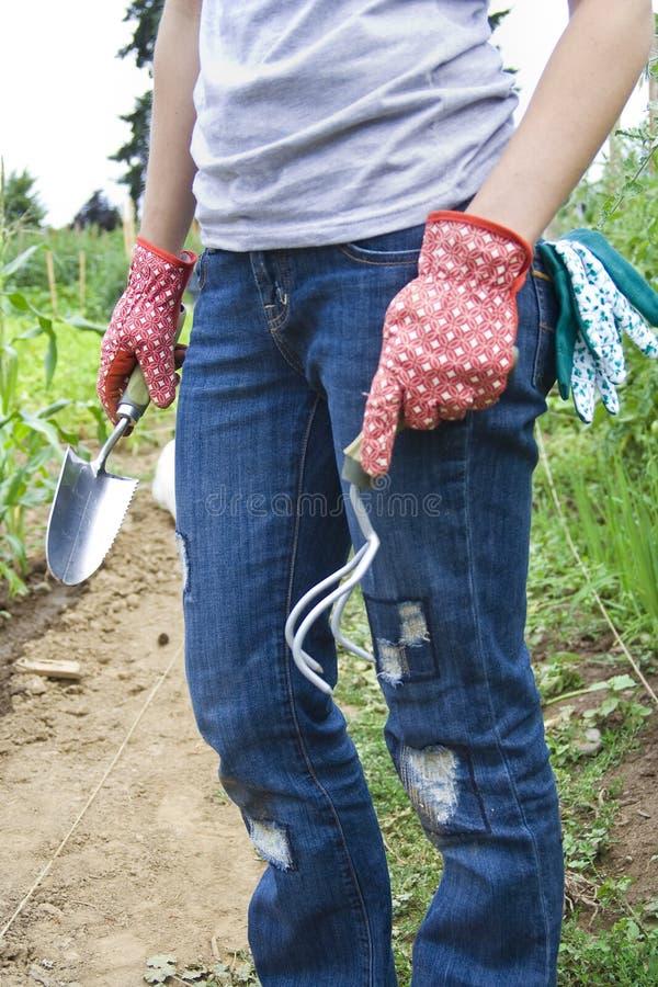 garden girls her working στοκ εικόνες με δικαίωμα ελεύθερης χρήσης