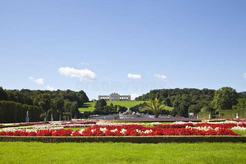 Download Garden And The Gloriette In The Schonbrunn Palace Stock Image - Image: 22760765