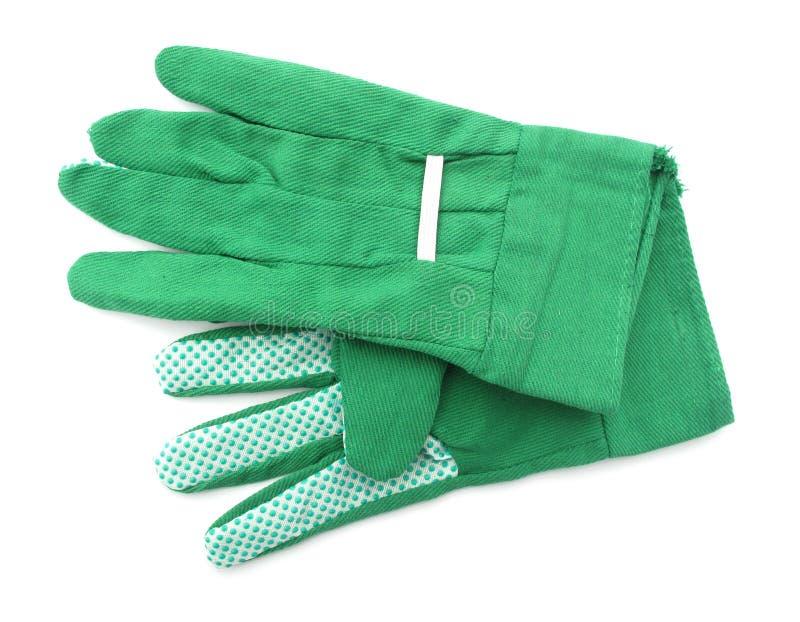 Garden gloves green royalty free stock photos
