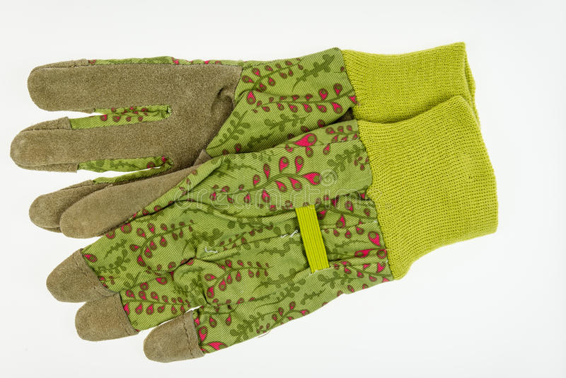 Garden gloves with leather palm stock photos