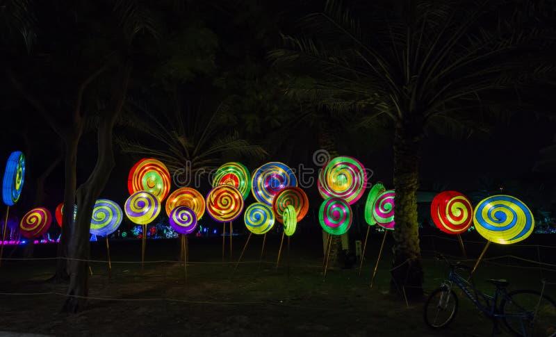 Garden Glow Dubai Uae Editorial Photo Image Of Lights