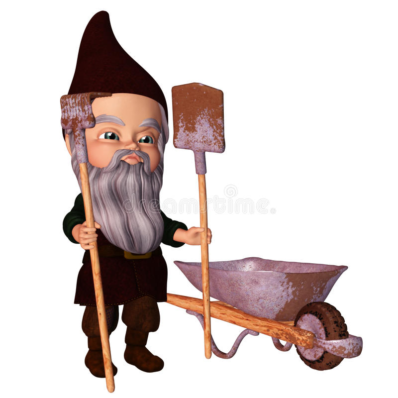 Download Garden Gnome stock illustration. Image of fantasy, dwarf - 18659559