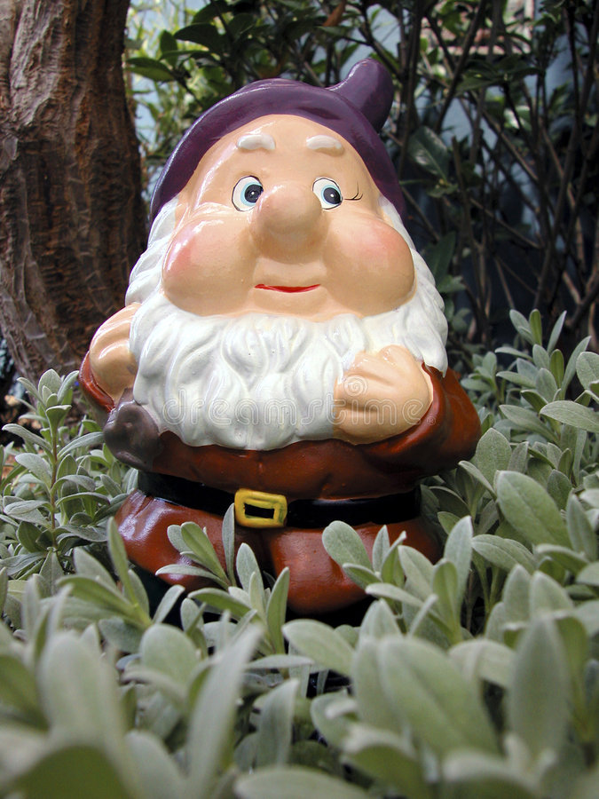 Download Garden Gnome stock image. Image of tiny, ornamental, small - 4437623