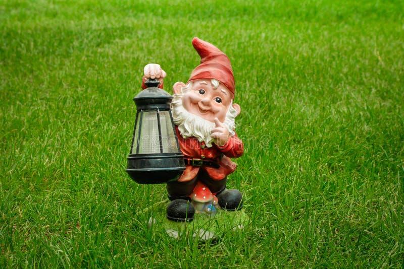 Garden gnome stock image