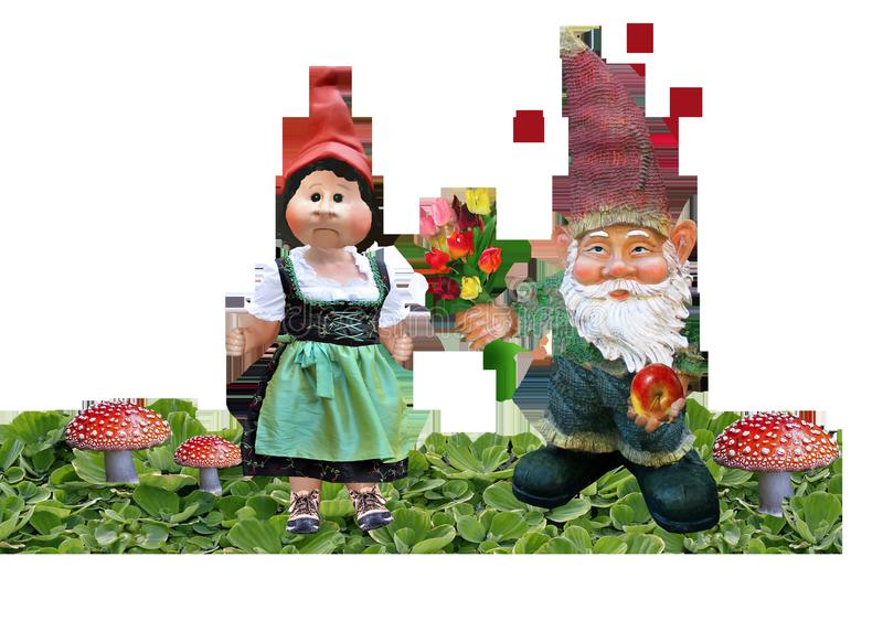 Garden Gnome, Lawn Ornament, Christmas Ornament, Christmas Decoration stock photo