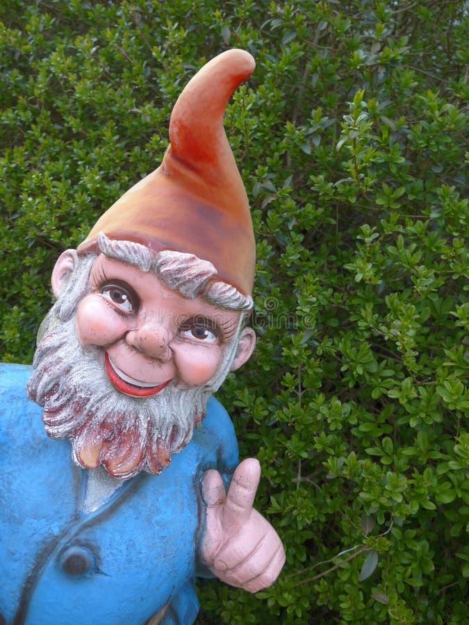 Funny garden gnome stock photos