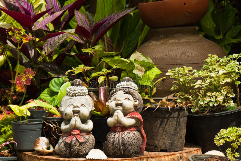 Download Garden Gnomes stock image. Image of garden, carving, vegetation - 12923695