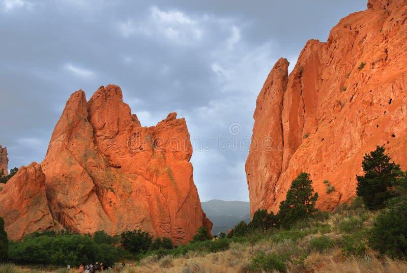 Garden of the Gods. National natural landmark, Colorado Springs royalty free stock photo