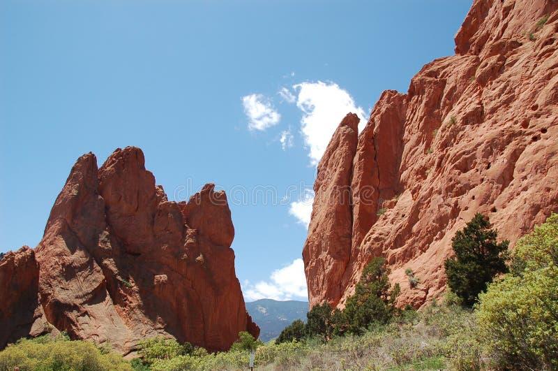 Garden Of The Gods. In Colorado royalty free stock photo