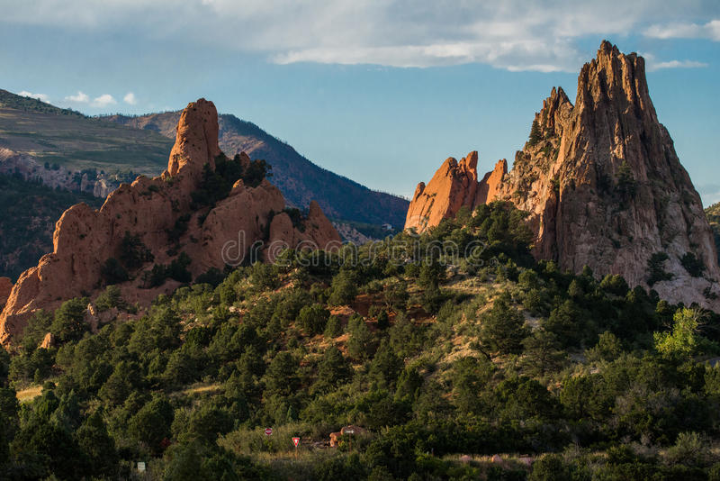 Garden of the gods colorado springs. Rock formations inside the garden of the gods located in colorado springs. one of the top travel tourist and vacation stock photography