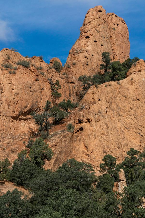 Garden of the gods colorado springs rocky mountains. Garden of the gods in colorado springs - travel vacation in the rocky mountains royalty free stock image