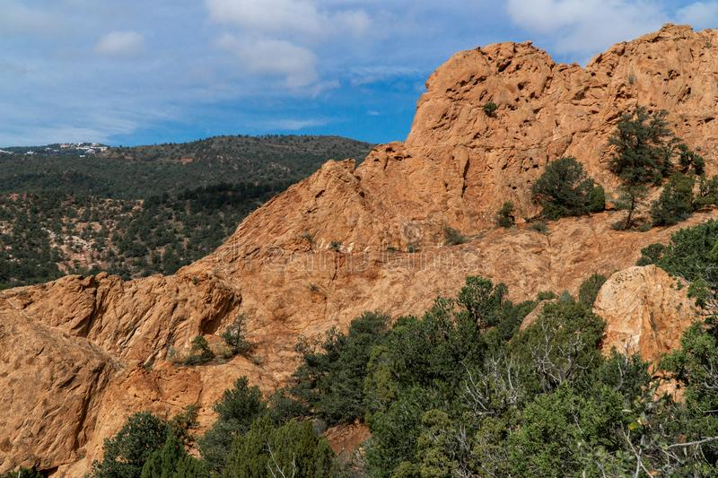 Garden of the gods colorado springs rocky mountains. Garden of the gods in colorado springs - travel vacation in the rocky mountains stock photography