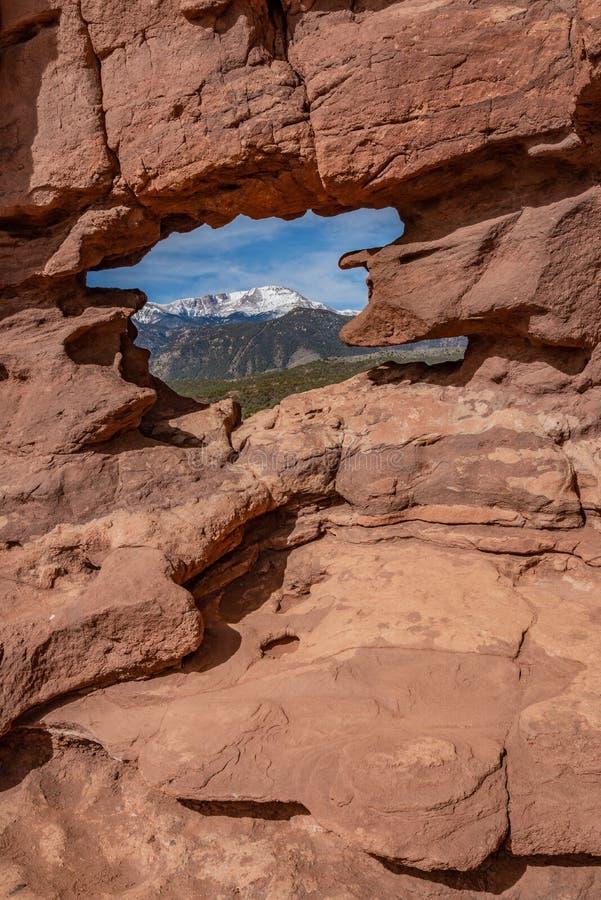 Colorado springs garden of the gods rocky mountains adventure travel photography. Garden of the gods in colorado springs - travel photography on a colorado stock images