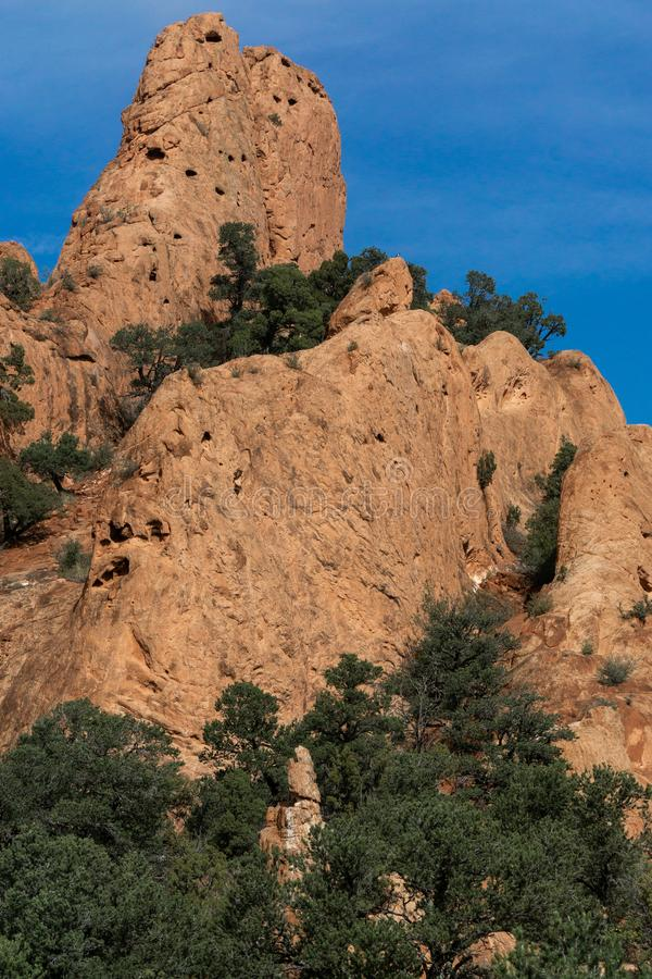 Garden of the gods colorado springs rocky mountains. Garden of the gods in colorado springs - travel vacation in the rocky mountains royalty free stock photo